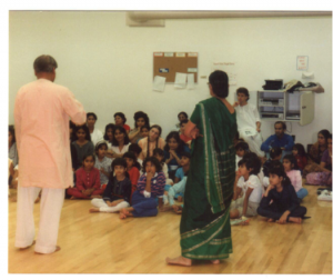 at the KalaBharati dance school 1982