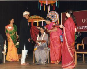honoring Mamata as a guru