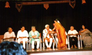 being honored by SRUTI, Chennai, 2002